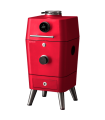 4K Everdure by Heston Blumenthal  bbq ξύλου και smoker με ηλεκτρονική έναυση (κόκκινο)